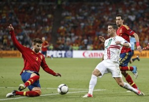 Pique tackling Real Madrid's Best Player